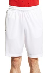 Men's Nike 'Elite Stripe' Basketball Shorts White Black Wolf Grey