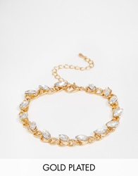 Designsix Chain Bracelet With Gems Gold
