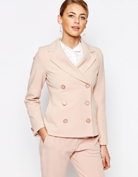 Closet Fitted Suit Jacket Pink