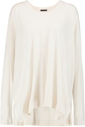 Donna Karan Oversized Cashmere Sweater White