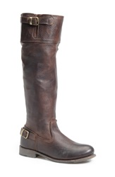 Vintage Shoe Company 'Ivy' Knee High Boot Women Chocolate Leather