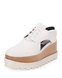 Elyse Cutout Platform Oxford White Stella Mccartney
