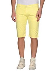 Manuel Ritz White Bermudas Yellow