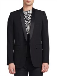 Saint Laurent Shawl Collar Wool Blazer Black
