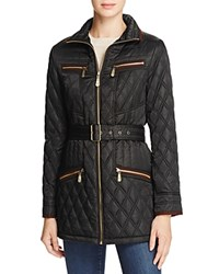 Vince Camuto Belted Faux Suede Coat Black