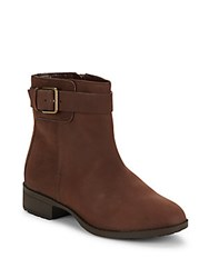 Cole Haan Roundtoe Waterproof Ankle Boots Chestnut