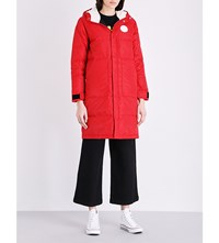 Chocoolate Longline Quilted Jacket Red