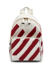 Anya Hindmarch Diamonds Mini Leather Backpack Red Stripe