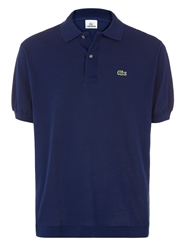 Lacoste Pique Men S Short Sleeve Polo Navy