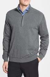 Men's Cutter And Buck 'Broadview' Cotton Half Zip Sweater Charcoal Heather