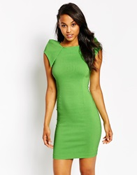 Vesper Rogue Dress With Shoulder Detail Green
