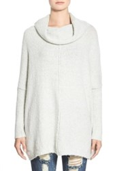 Dreamers By Debut Cowl Neck Tunic Sweater Gray