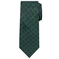 Chester Barrie By Mini Flower Silk Tie Green Navy