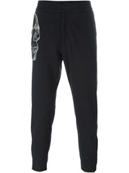 Alexander Mcqueen Skull Embroidered Trousers Black