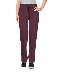James Perse Standard Trousers Casual Trousers Women Garnet