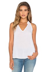 Bella Dahl Split Back Halter Top White