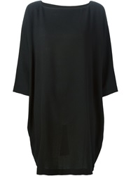Daniela Gregis Boat Neck Shift Dress Black