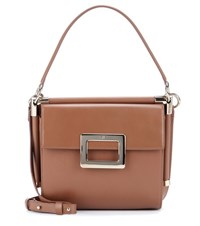 Roger Vivier Miss Viv' Carre Small Shoulder Bag Brown