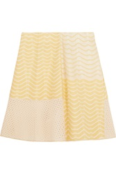 M Missoni Paneled Crochet Knit Mini Skirt