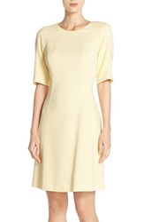 Women's Vince Camuto Seamed Crepe A Line Dress Yellow