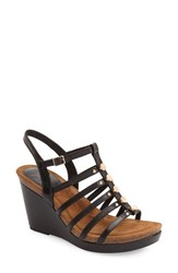 Women's Sofft 'Cassie' Platform Wedge Sandal Black Leather
