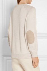 Brunello Cucinelli Sequin Embellished Cashmere And Silk Blend Sweater Off White