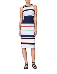 Cynthia Rowley Striped Sheath Dress Navy Multi
