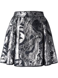 Philipp Plein 'The Avengers' Skater Skirt Black