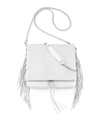 Ash Kimi Fringe Crossbody Bag White