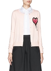 Markus Lupfer 'Dripping Heart' April Cardigan Pink