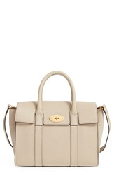 Mulberry 'Small Bayswater' Leather Satchel Grey Dune