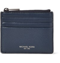 Michael Kors Harrison Cross Grain Leather Cardholder Navy