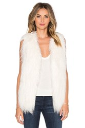 The Jetset Diaries Capelli Faux Fur Vest Ivory
