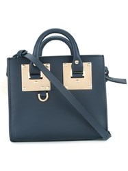 Sophie Hulme Small 'Albion' Tote Blue