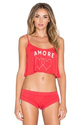 Wildfox Couture Strappy Amore Hearts Cami Red