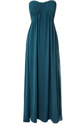 Alice And You Ruched Bandeau Maxi Dress Teal
