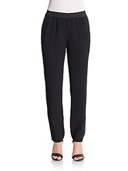 Sanctuary Tuxedo Stripe Jogger Pants Black