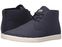 Clae Strayhorn Textile Navy Canvas Men's Lace Up Casual Shoes Blue