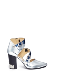 Toga Archives Western Buckle Mirror Leather Pumps