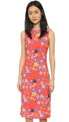 Suno Tank Dress Floral Red
