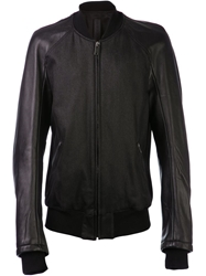 Gareth Pugh Simple Bomber Jacket Black