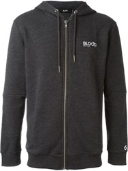 Blood Brother Zipped Up Hoodie Grey