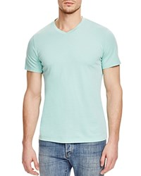 Velvet V Neck Tee French Blue