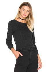 James Perse Thermal Crew Neck Sweater Charcoal