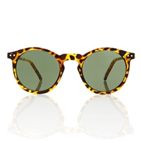 Omalley Sunglasses Round Tortoise Frame Green By Americandeadstock