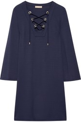 Michael Kors Collection Stretch Jersey Mini Dress Navy
