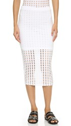 Alexander Wang Circular Knit Pencil Skirt White