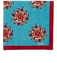 Roda Medallion Pocket Square Blue