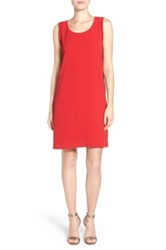 Pleione Beaded A Line Shift Dress Red