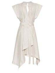 Isabel Marant Lief Wrap Front Silk Dress White